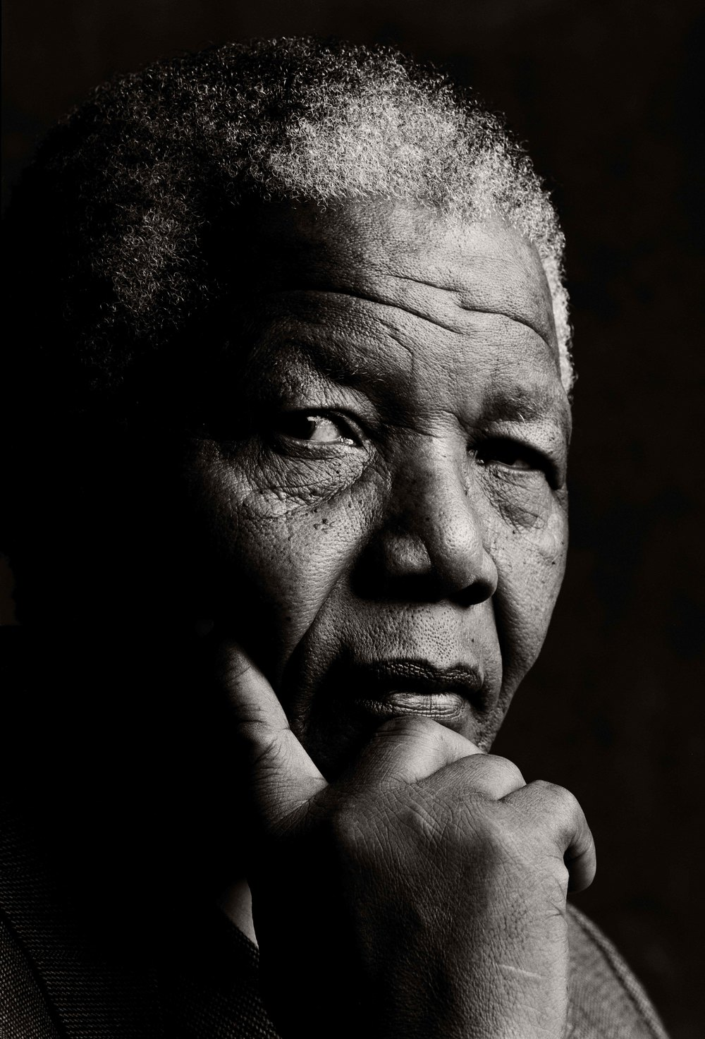 Nelson Mandela «The last real hero» 1992 1,18 x1,62 m Print Photo Canvas Ultra Glossy NOK 60 000