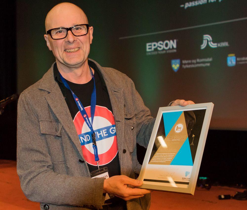 Morten Løberg ble tildelt Leif Preus Minnepris! Foto: Wigdis Wollan