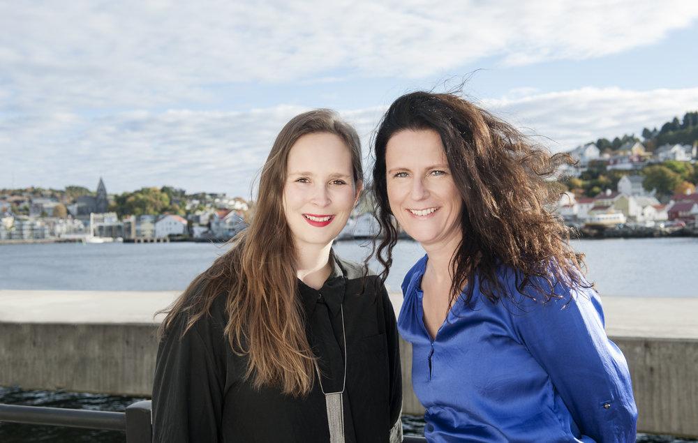 Katrine Øvstegård and Ingunn Strand are looking forward to welcome artists to the city of Kristiansund! // Katrine Øvstegård og Ingunn Strand gleder seg til å ta imot kunstnere i Kristiansund!