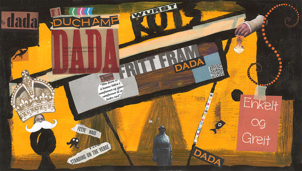 Dada - The first. Kollasj av Ola Alnæs ©