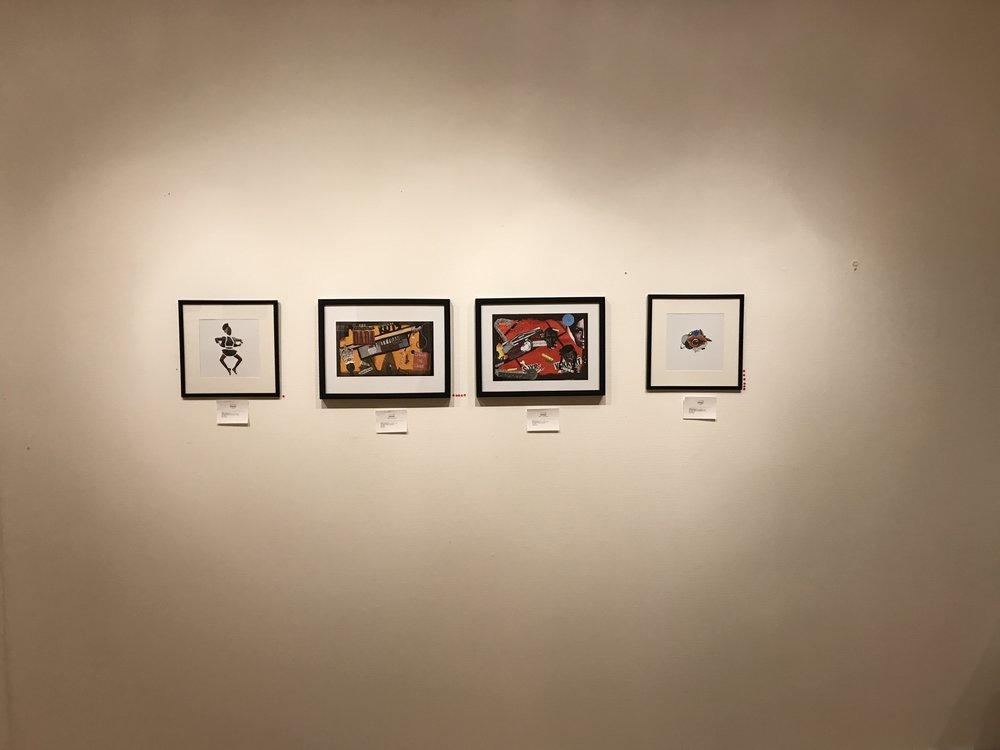 Parts of Ola Alnæs' exhibition