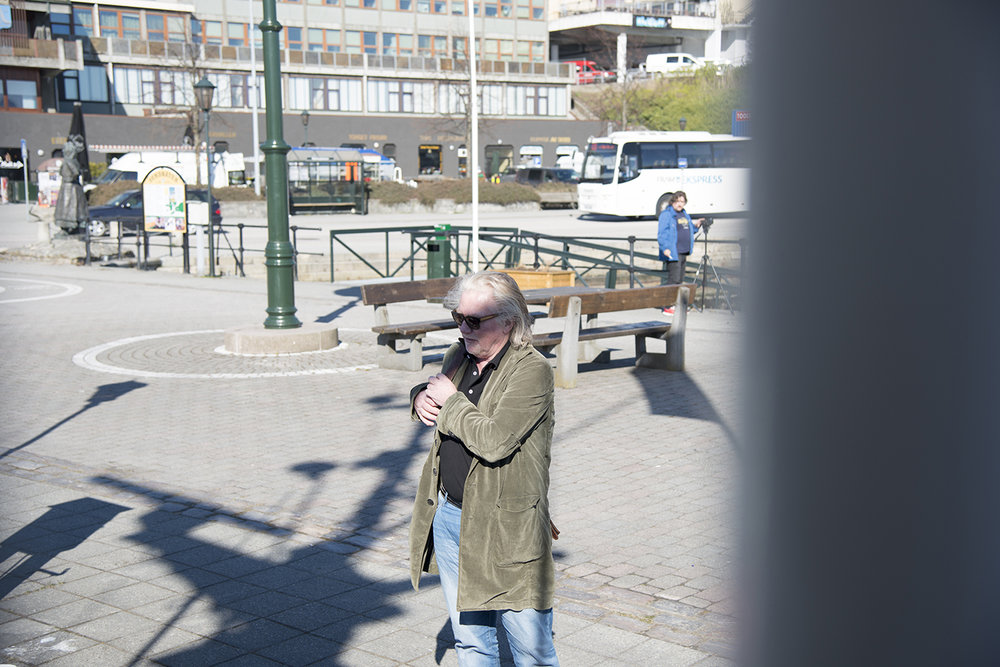Artistic Director Morten Krogvold ready for the boat trip to the island Grip (Photo:)