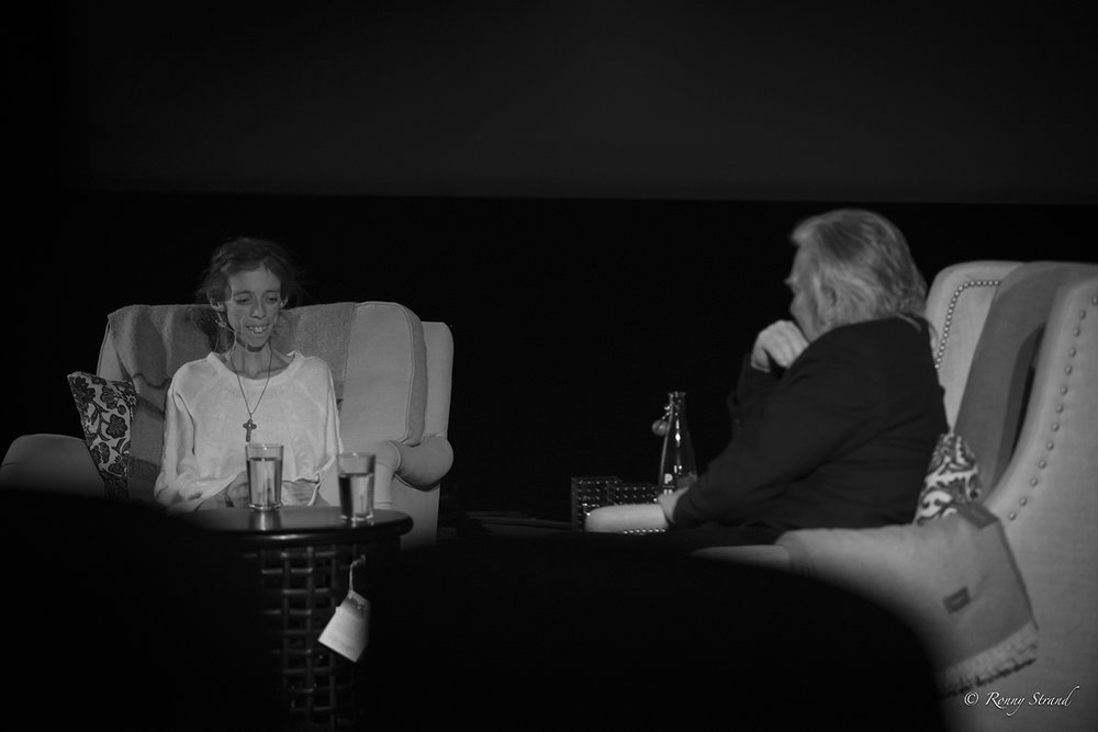 Photographer Lene Marie Fossen and Artistic Director Morten Krogvold in conversation in Caroline Cinema