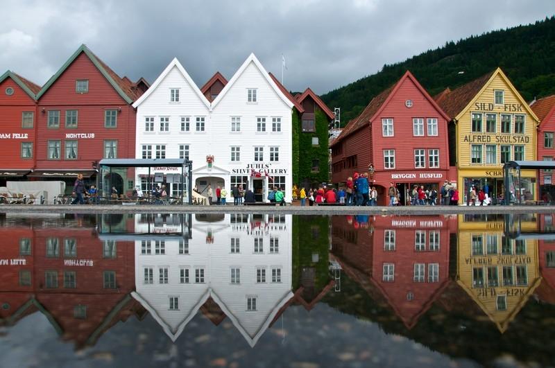 Bryggen in Bergen (Unesco). (Photo:Øyvind Heen - Visitnorway.com)