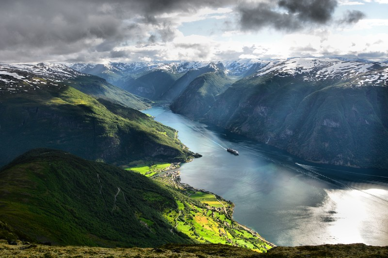 The Aurland fjord in spring time.  (Photo:m_dickson/Foap/Visitnorway.com )