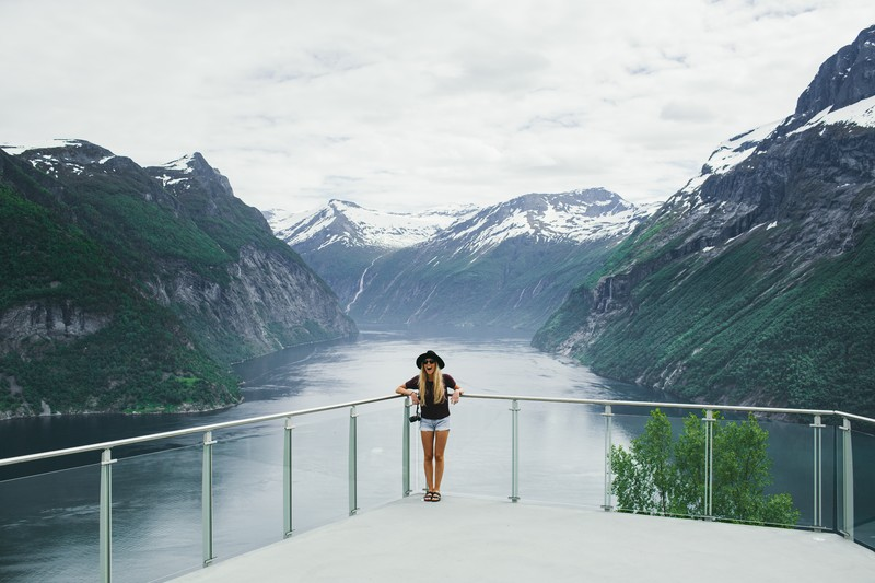 Ljøen view point by the Geirangerfjord.  (Photo:Samuel Taipale/visitnorway.com)