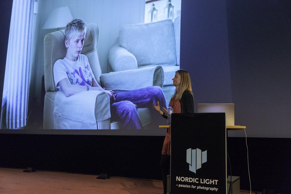 Andrea Gjestvang at her exhibition
