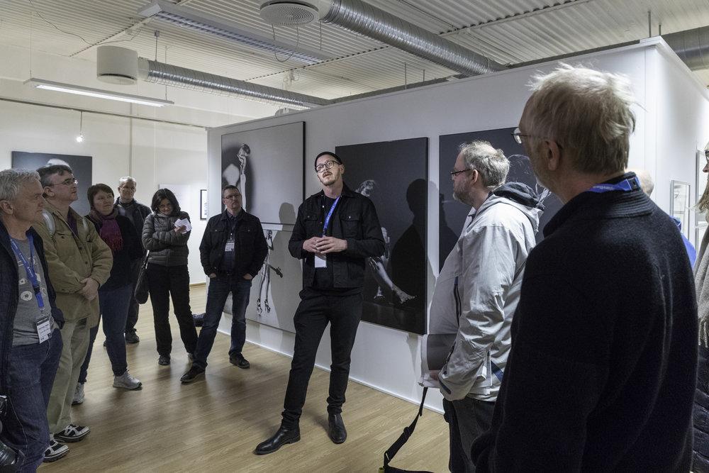 Pål Laukli at his gallery talk