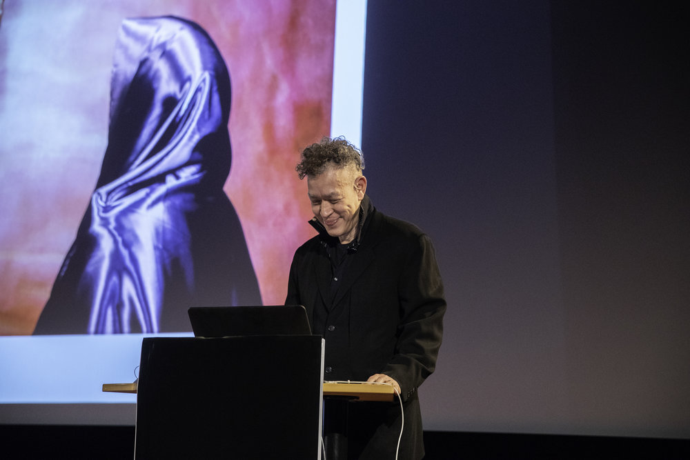 Andres Serrano at his lecture