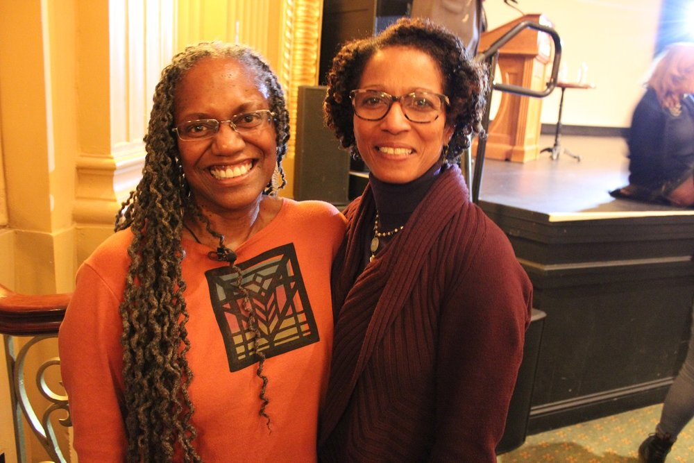 Theresa Caldwell, left, and TWI Board Member Beverly Adams, PhD.