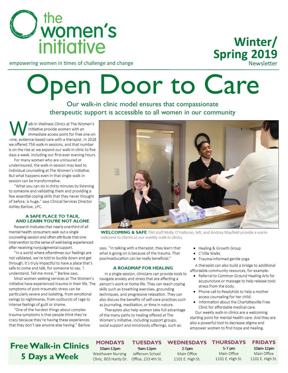 2019 Winter/Spring Newsletter