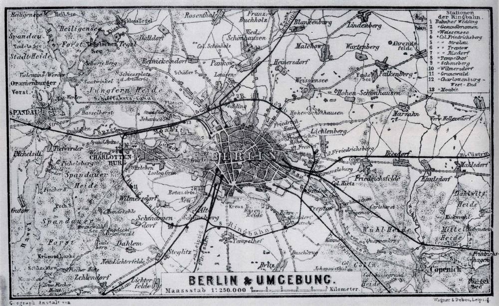 Those were the days. Berlin in 1885.