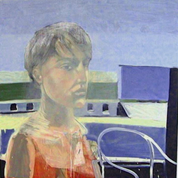 Audrey Anderson    								  Oil on panel, 48 x 48 inches   					         Spring 1999