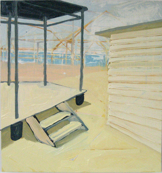 Beach House 8 Oil on Aluminum Panel 16 x 16 inches summer 2007