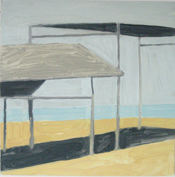 Beach House 10 Oil on Panel 14 x 14 inches summer 2007