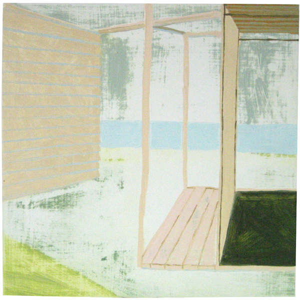 Beach House 13 Oil on Panel 14 x 14 inches summer 2007