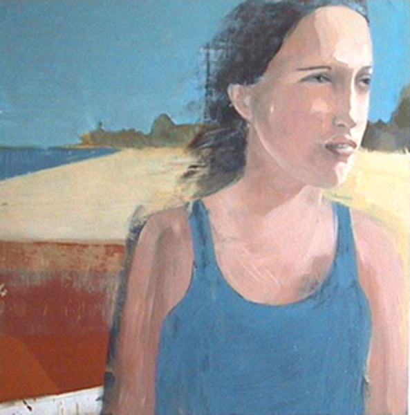 Rachel Dorris, Barnstable, MA. 2002    Oil on panel, 48 x 48""