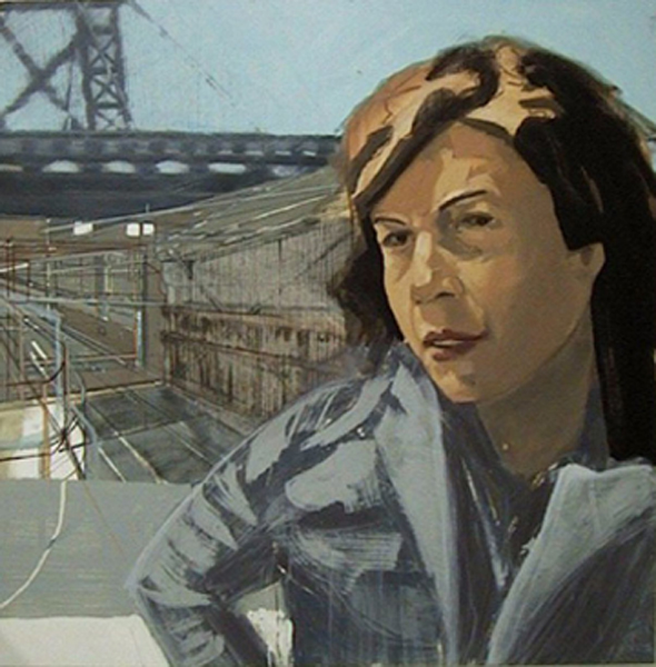Kirby Benneville, Brooklyn, NY 2001 Oil on panel, 48 x 48""