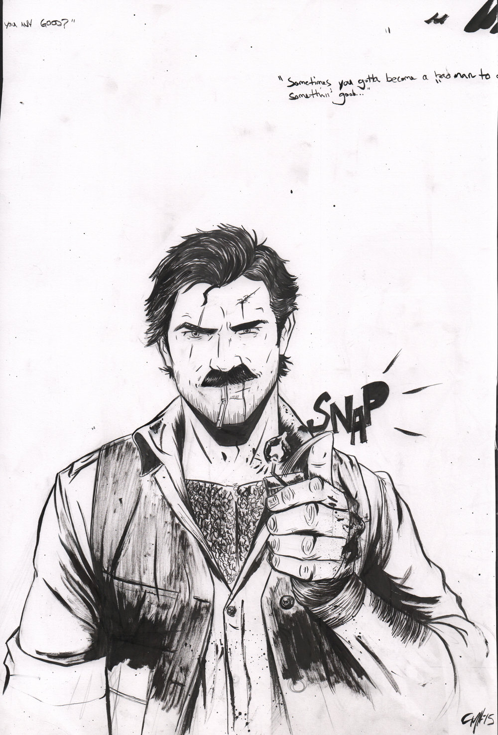 CARVER: A Paris Story Issue 3 Drawing