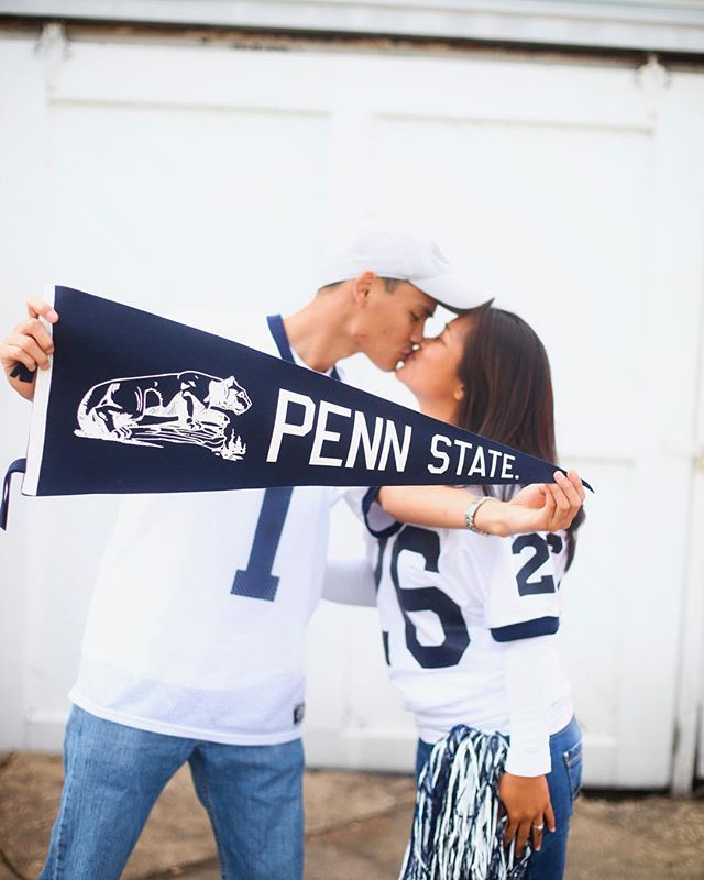 Game day...Go Lions! #wearepennstate #canon5dmarkiv #engagementphotos