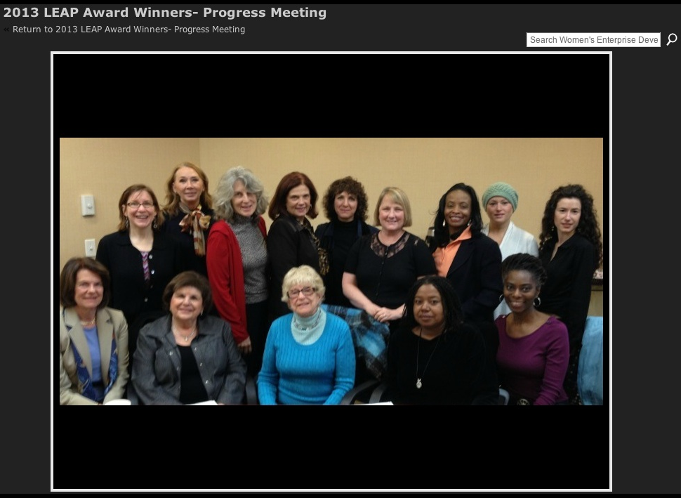 2012 LEAP Grant winners at the Women's Enterprise Development Center.