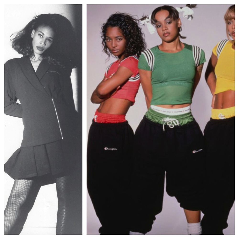 Beautiful ladies of the 90s.  My sister-in-law and former model Leslie Herring, and the members of TLC.