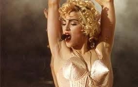 Madonna in the Gaultier cone bra.
