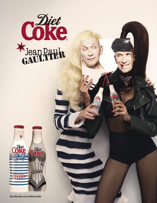 Gaultier show off his Diet Coke body.