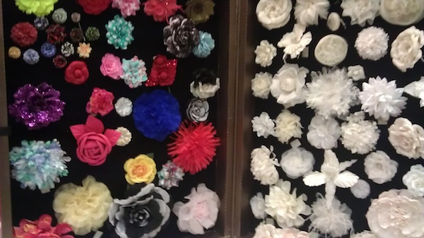 Fabric flower trunk by M & S Schmalberg