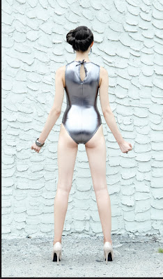 Back of the Jill suit...liquid silver