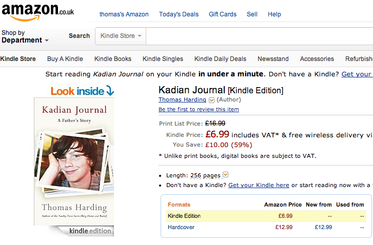 http://www.amazon.co.uk/Kadian-Journal-Thomas-Harding-ebook/dp/B00ITVYWPQ/ref=tmm_kin_title_0?ie=UTF8&qid=1403472165&sr=1-1