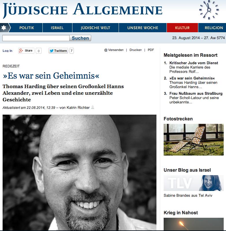 Jüdische Allgemeine 22 August 2014