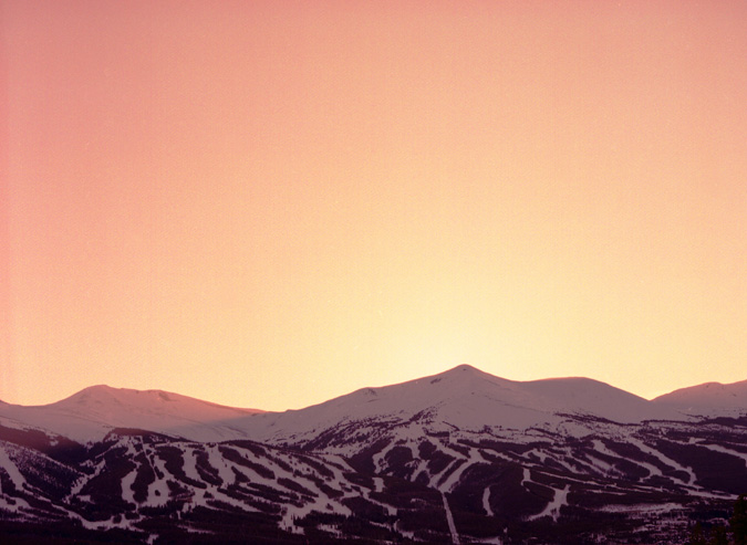 photograph of breckenridge colorado at sunset