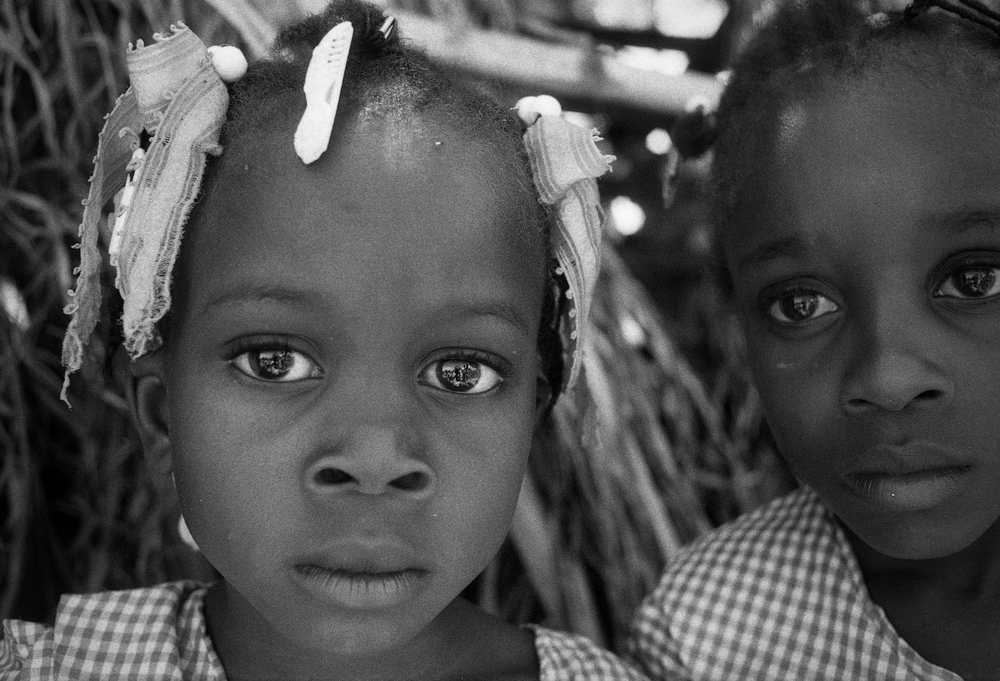 Twins .    Cange, Haiti.  2009  35 mm B&W film