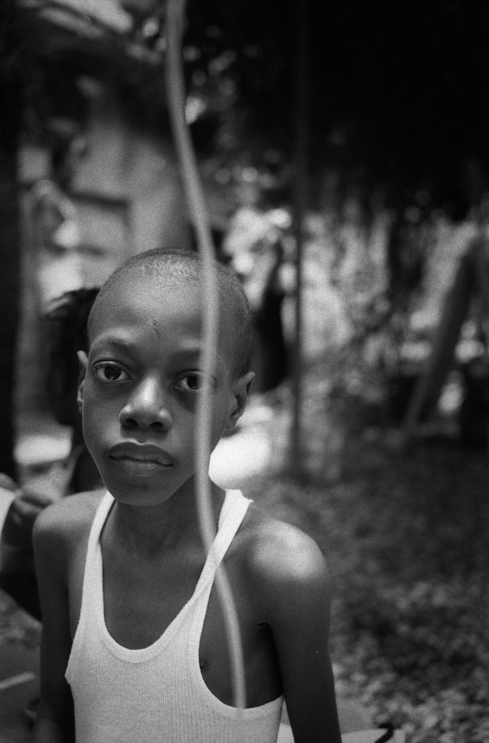 Jude.   Zanmi Lasante. Cange, Haiti. 2009  35 mm B&W film