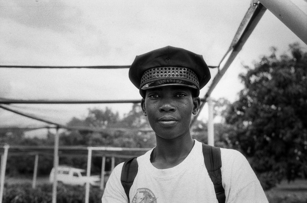 Police Cap.   Cange, Haiti. 2009  35 mm B&W film