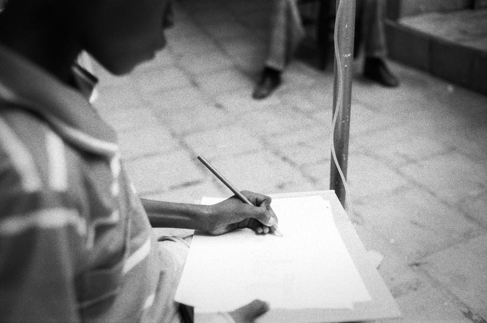 Home.   Zanmi Lasante. Cange, Haiti. 2009  35 mm B&W