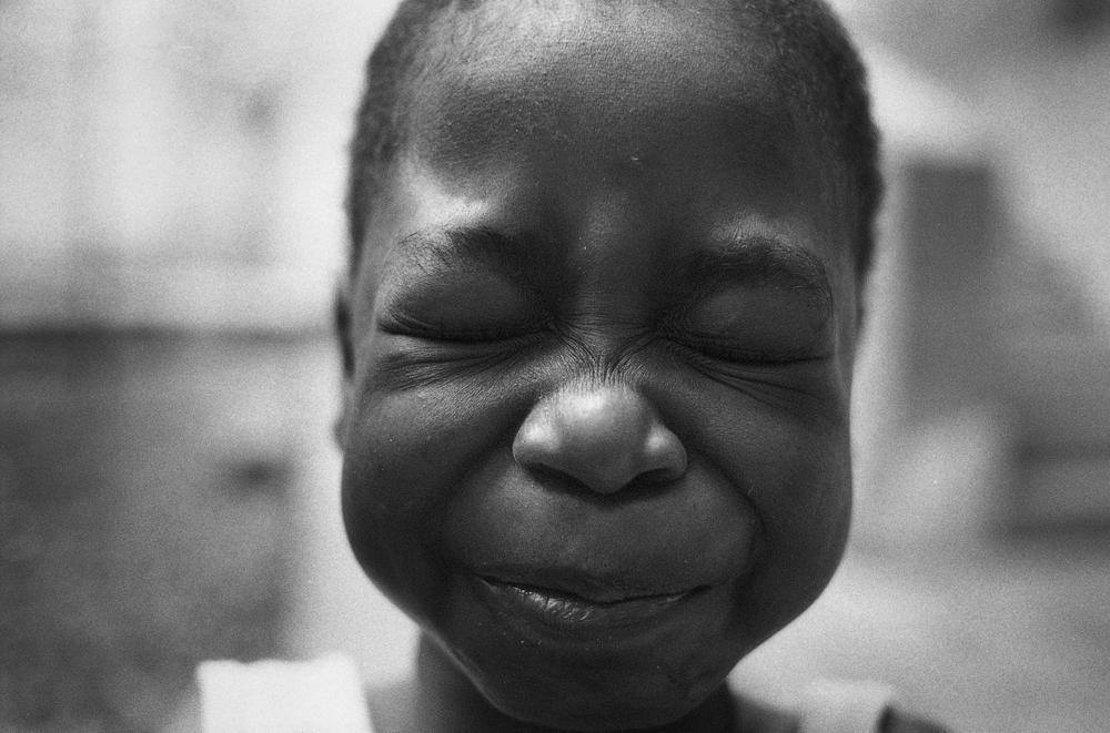When Sunshine Laughs.     Zanmi Lasante.  Cange, Haiti.  2009  35 mm B&W film