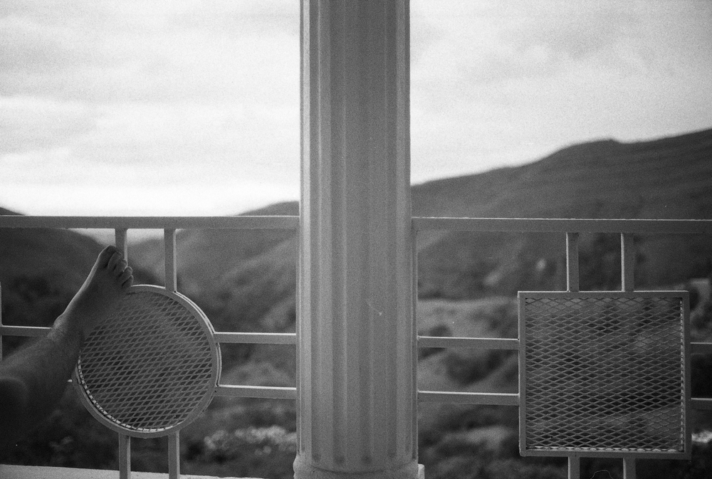 The Balcony Above.    Zanmi Lasante.  Cange, Haiti.  2009  35 mm B&W film