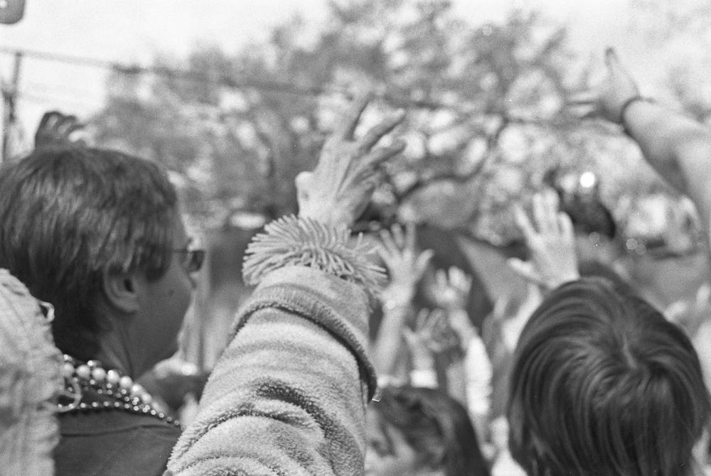 Reach.   New Orleans, LA. 2010  35 mm B&W film.