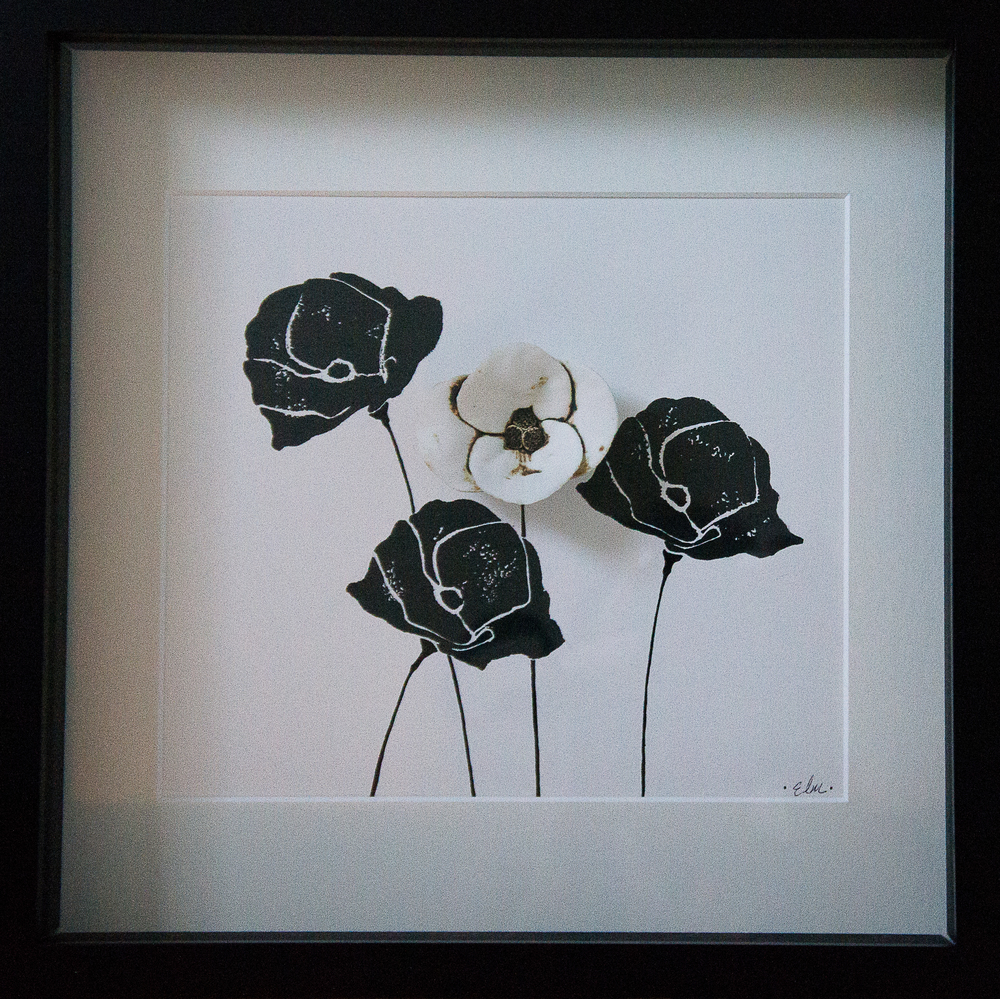Poppies in Black & White #2
