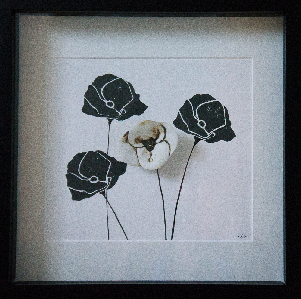 Poppies in Black & White #3