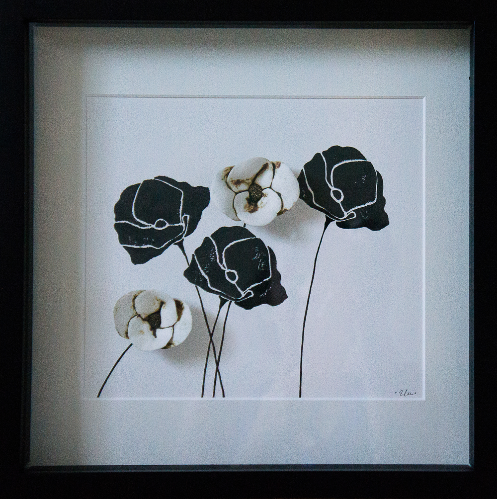 Poppies in Black & White #4