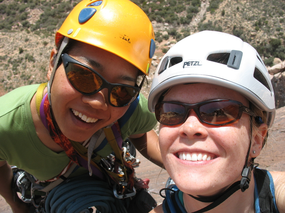 Erin and Yoshiko on Birdland in Red Rocks, spring 2010.