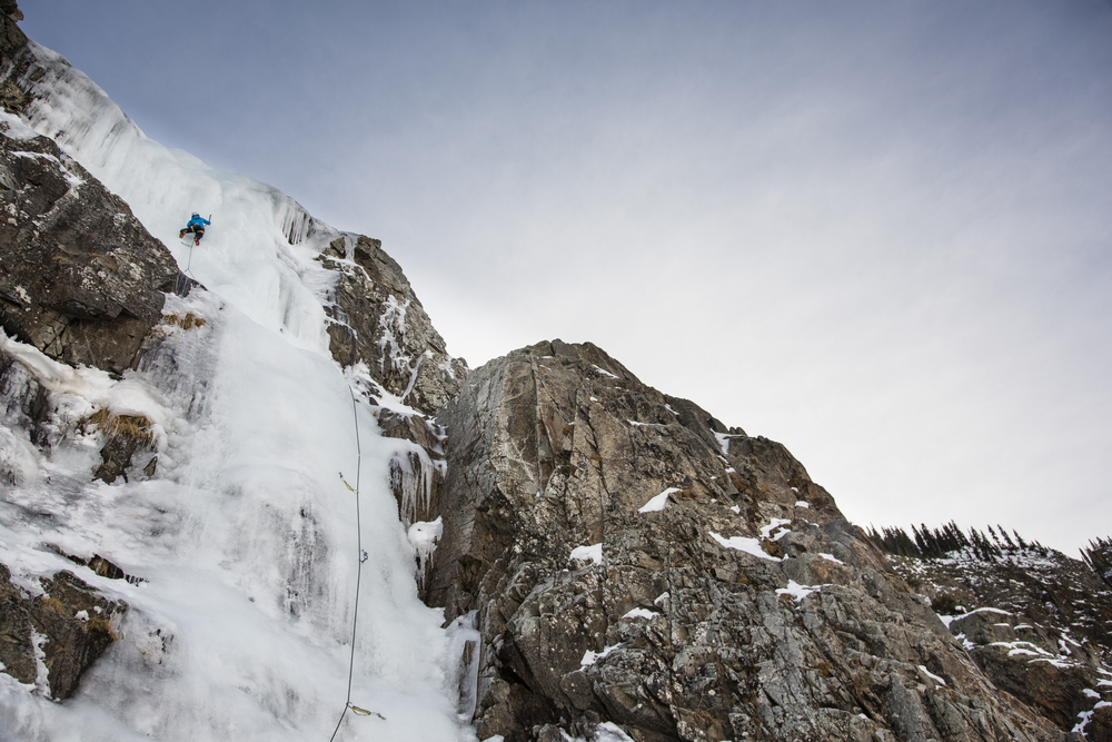 Erin climbing Stairway to Heaven in Eureka, CO. Photo: David Moskowitz