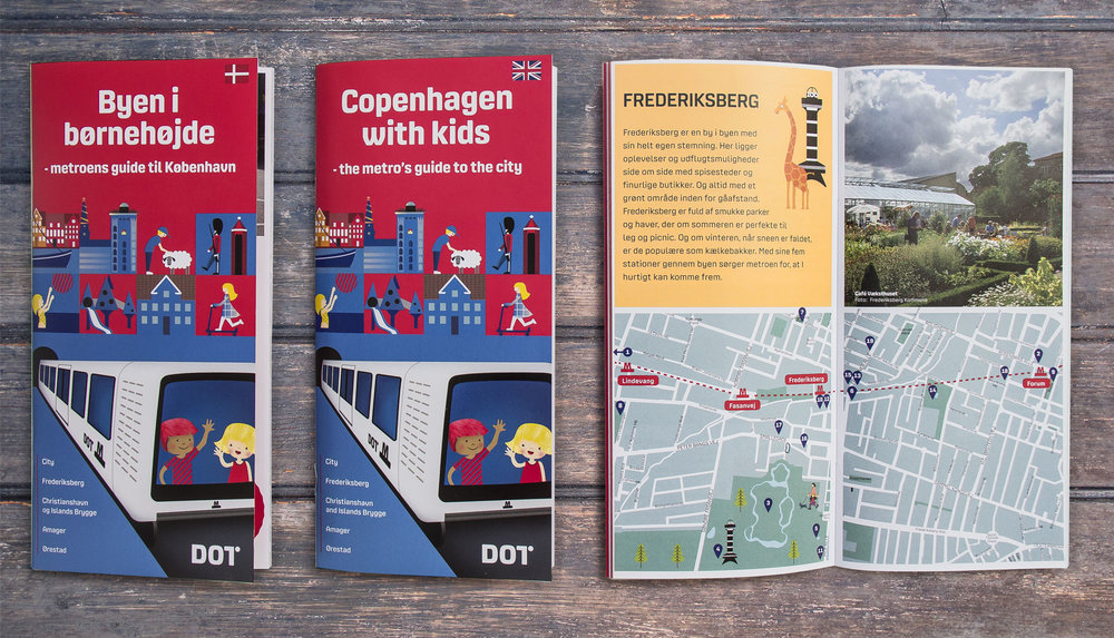 Selve guiden på dansk og engelsk. 86 sider. Rolle: Layout, kortdesign og illustration