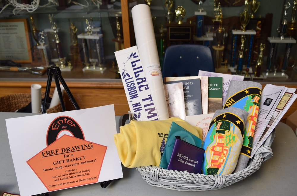 A free drawing was held for a gift basket full of historical society books, a map, and more...along with souvenirs and 250th items donated from Lisbon Main Street, Inc.