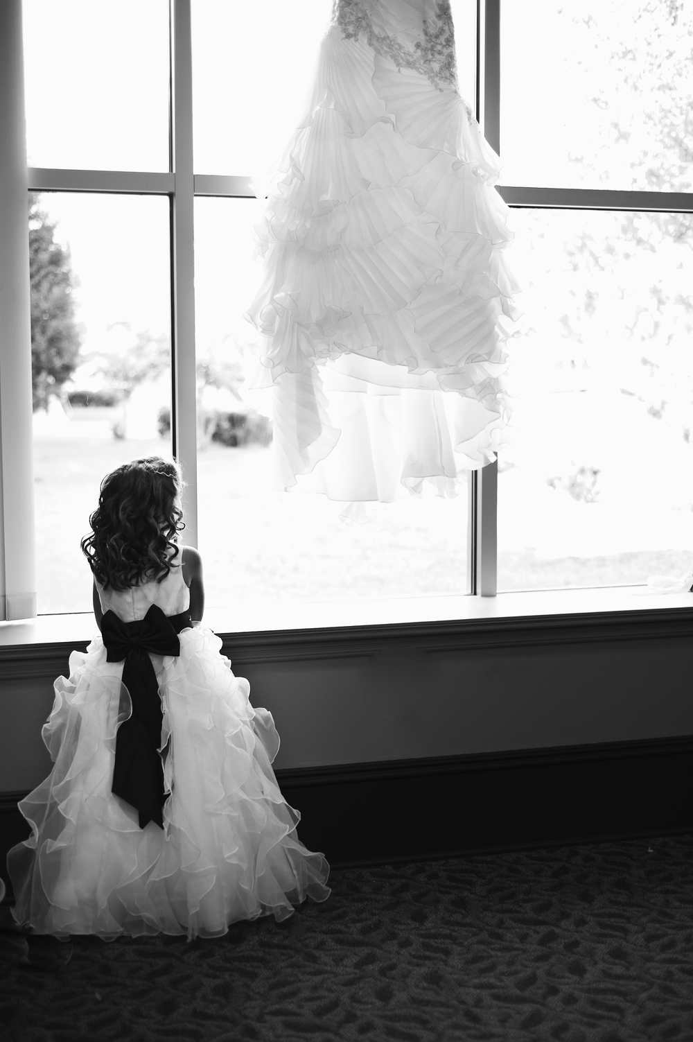 Flower Girl & Brides Dress.JPG