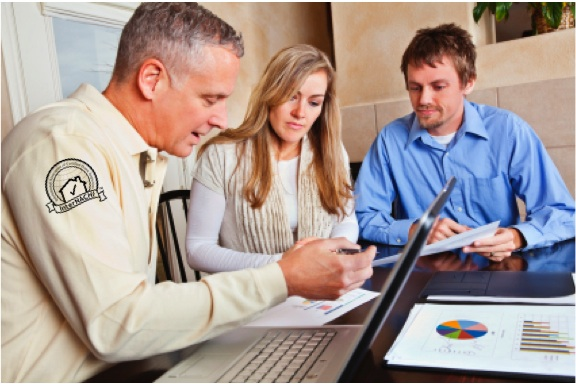 The energy assessment professional should take time at the end of the visit to engage the customers.