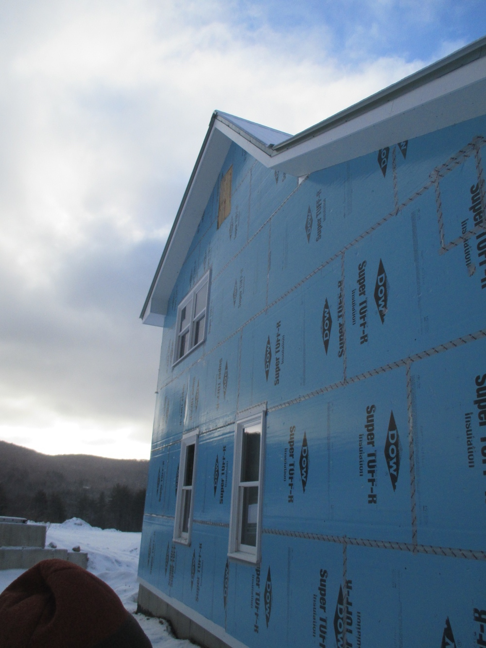 Continuous insulation on the exterior